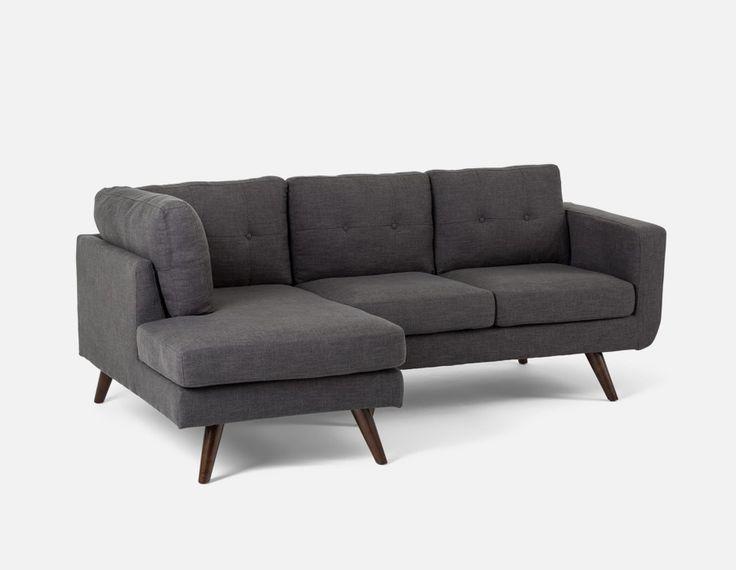 MARGOT - Sectional sofa left - Dark Grey