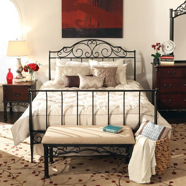 iron bedroom sets sleigh bed frame metal antique vintage wrought iron 11902