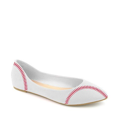 IN STOCK You fell head over heels for our baseball heel, now get ready to show your support for your favorite sluggers in our newest baseball wedges! These heels will be a home run while your rooting