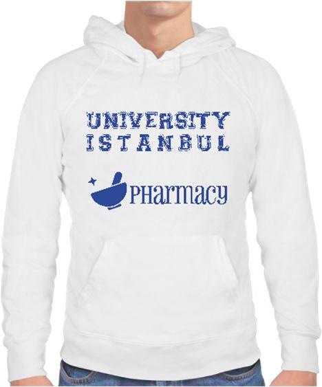 University Istanbul Pharmacy Erkek Sweat Kendin Tasarla - Erkek Kapşonlu Sweatshirt