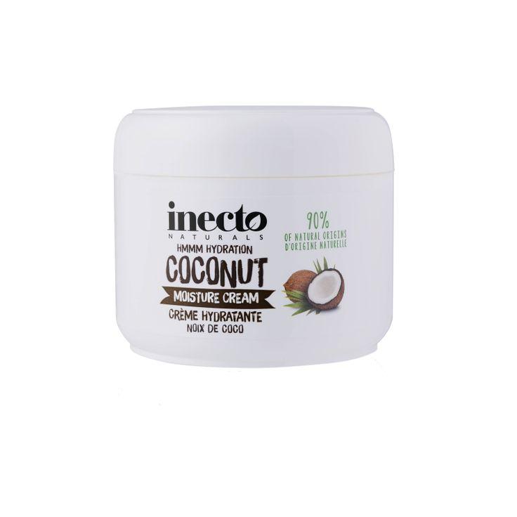 Inecto Naturals Coconut Moisture Cream 100 % ekologisk kokosolja. Veganvänlig! Köp hos Ecoliving.se