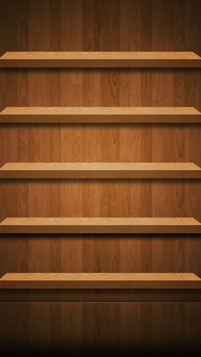 iPhone 5 Wallpaper Shelves 09