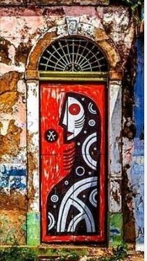 Gorgeous painted doorway Porta...#peloBrasilafora ☆ Recife, Pernambuco, Brasil.