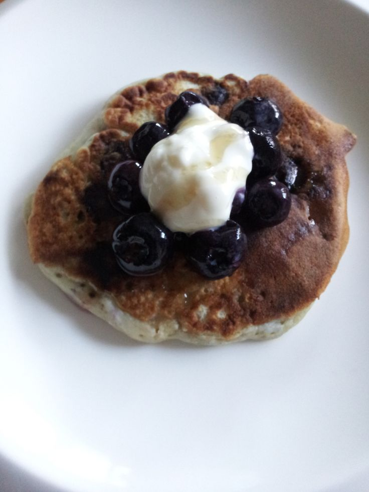 The Collective coconut yoghurt made these blueberry pancakes super lovely