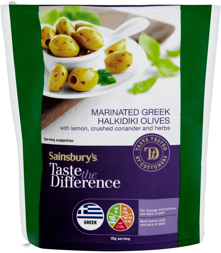 Sainsbury's Taste the Difference Marinated Greek Olives (200g)