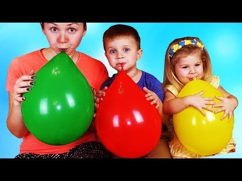 Learn Colors with Balloons & finger family song nursery rhymes for kids - YouTube