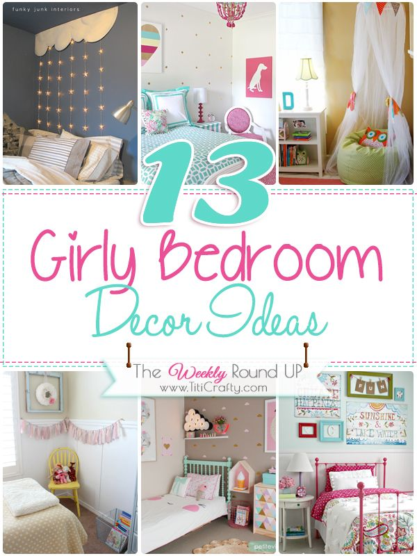 13 Girly Bedroom Decor Ideas {The Weekly Round Up}