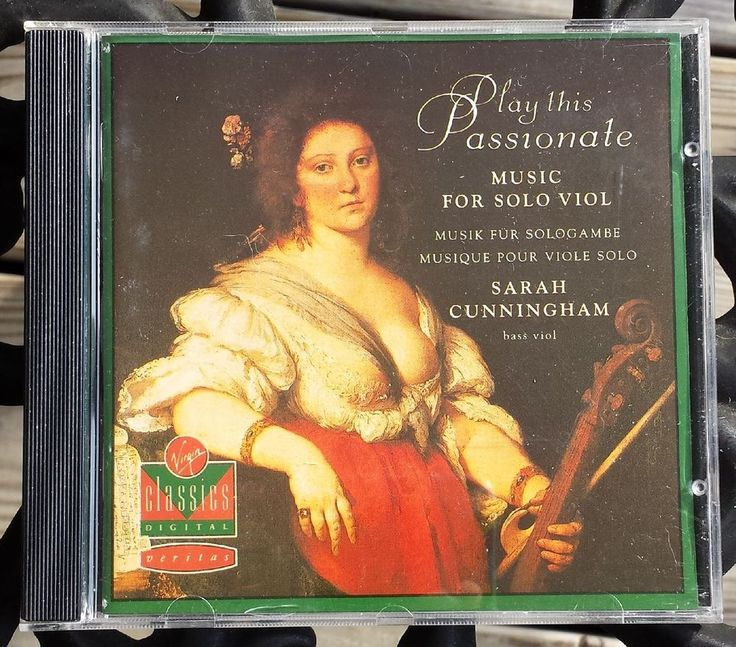 Play This Passionate Music for Solo Viol Sarah Cunningham Music CD