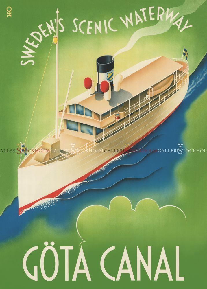 Hans-Erik Olsén - Affischer Retro - Göta Kanal