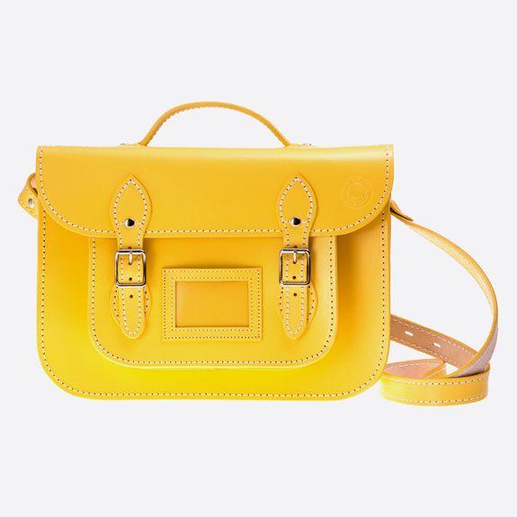 Old School Satchel - 13 Inch Satchel – Yellow