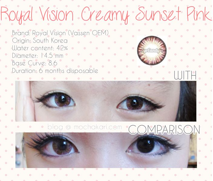 Royal Vision Creamy Sunset Pink - EyeCandy's  ♥♥ Shop now ~ www.eyecandys.com ♥♥ Authentic Korean circle lenses, circle lens, colored contacts, color contact lens, big eyes, cosmetic contact lenses, korean makeup, ulzzang, gyaru, coloured contacts #circlelenses, #circlelens, #coloredcontacts, #colorcontacts, #colorlens, #gyaru, #ulzzang, #bigeyes #prettyeyes, #koreanstyle, #eyes, #makeup, #koreanbeauty, #makeup, #asian, #asiangirl, #contacts, #contactlens, #eyecandys