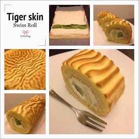 Mandy's baking journey: Tiger Skin Swiss Roll || http://mandysbakingjourney.blogspot.com/2014/01/tiger-skin-swiss-roll.html?m=1