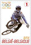 Timbre Jeux Olympiques à Pékin: BMX, 2008, bpost