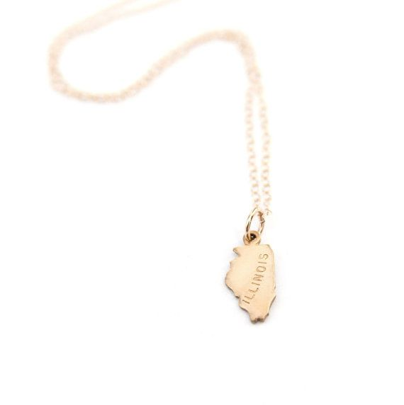 Dainty State Necklace  California State Necklace  by adorn512