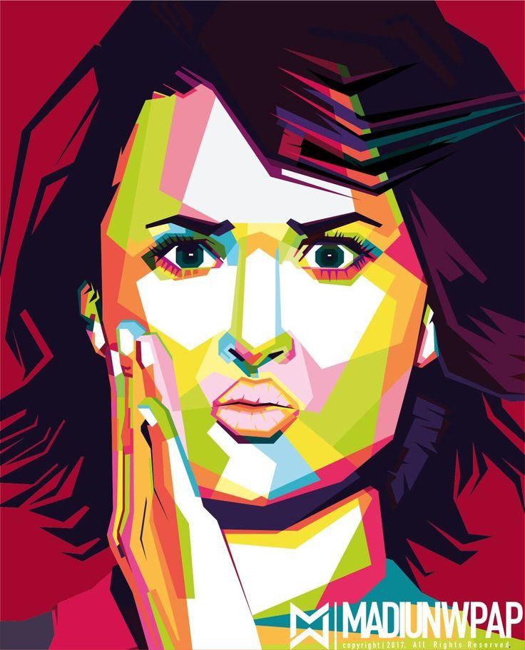 Demi Lovato in WPAP art of Indonesia