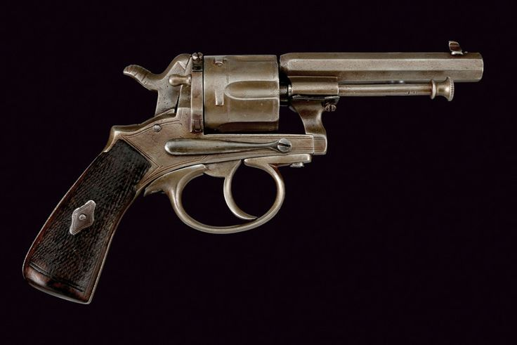 """A centerfire Gasser revolver dating: last quarter of the 19th Century provenance: Austria Rifled, octagonal, 7 mm cal. barrel; grooved, six-shot cylinder, with remains of outlines; mark """"L. Gasser WIEN"""""""
