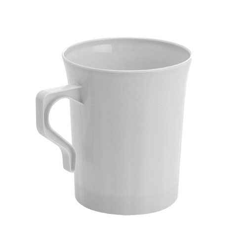 save on low cost 8 oz resposables white plastic coffee mugs for fancy showers holiday catering u0026 discount weddings on a budget