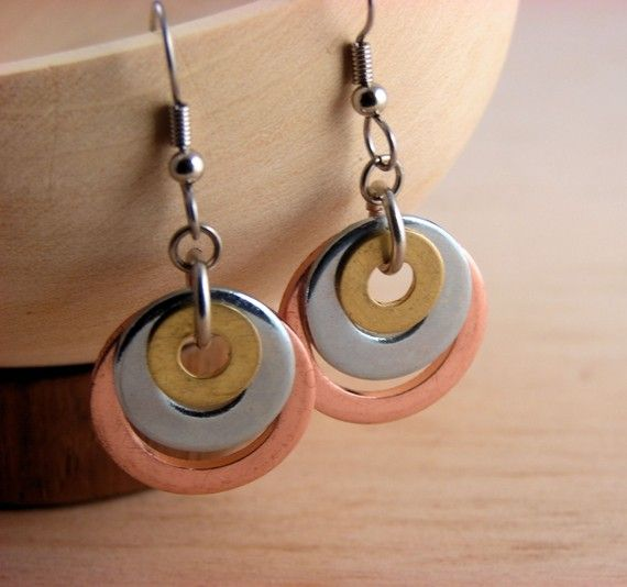 Mixed Metal Earring by additionsstyle, $12.00
