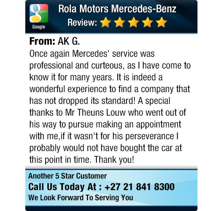 Once again Mercedes' service was professional and curteous, as I have come to know it for...