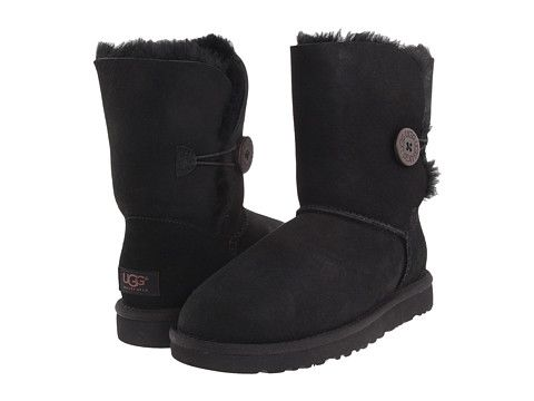 Black Uggs With Buttons