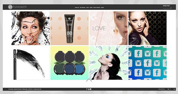 Responsive website Evagarden makeup Homepgae tab 2