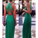 Vestido gala Verde plisado Chiffón - Corsets online lenceria vestidos