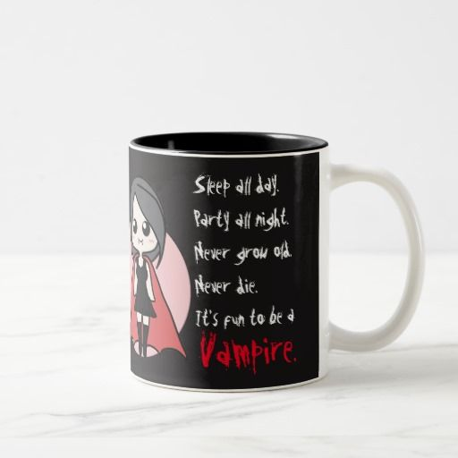 Black Fun to be a Vampire mug (cute girl)