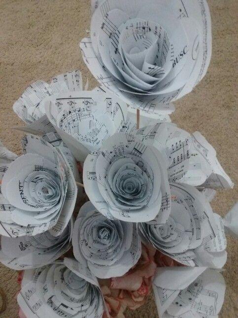 Flores de partituras