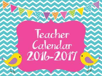 July 2016 to June 2017 school calendar.