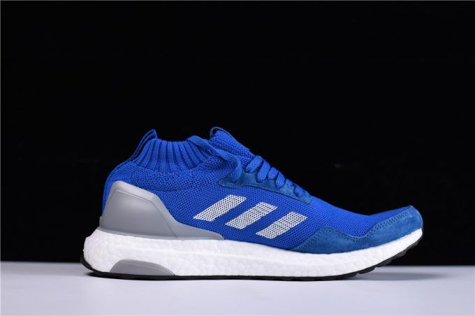 more photos e6644 355cb Discount Mens adidas Ultra Boost Mid Run Thru Time BlueFootwear White  BY3056 – Sole Adidas