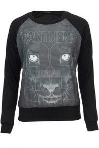 Bluza z tygrysem i cyframi