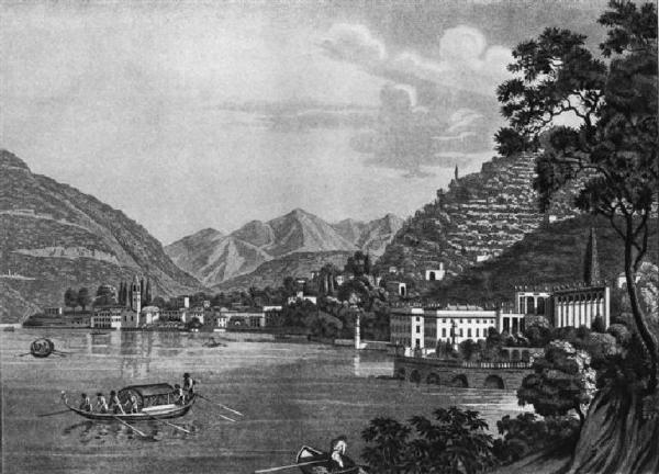 Historical postcard of Villa Taverna | Torno #lakecomoville