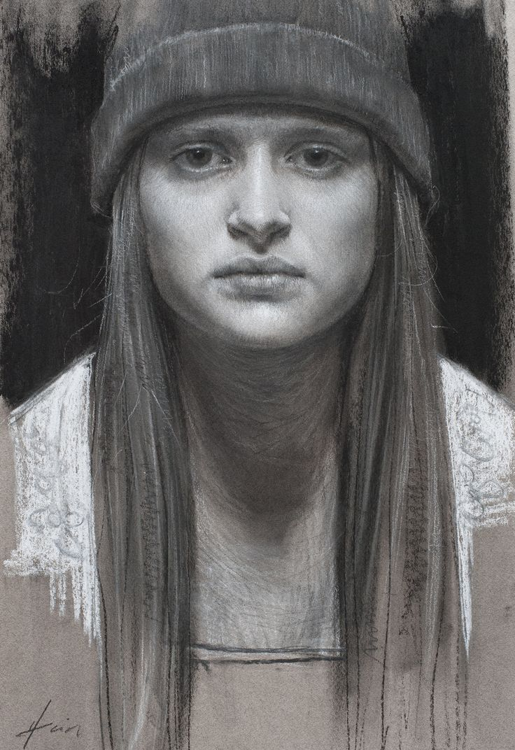 Jeff Hein - charcoal on paper