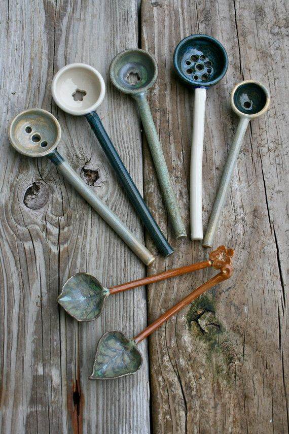Ceramic olive spoons. Now I knew what to do with the spoons that I made.