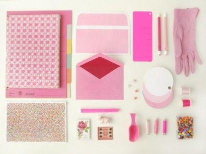 Pink office supplies. http://www.designformankind.com
