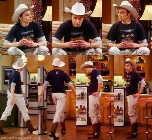 Image result for sheldon cowboy hat