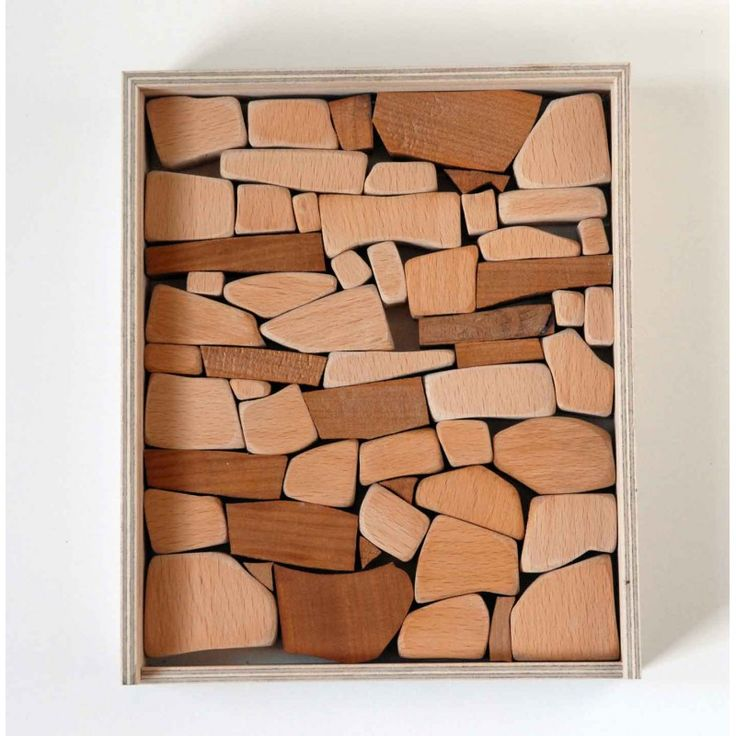 Mauerspiel, jeu de construction éco design pour enfant, jouet en bois fabriqué à la main, Christian Lessing.
