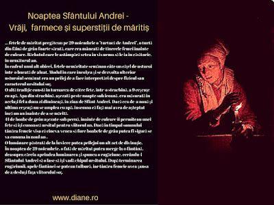 Noaptea Sfântului Andrei - Vrăji, farmece și superstiții de măritiș   diane.ro