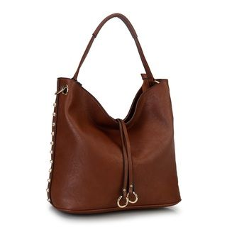 Diophy Studded Hobo Handbag | Overstock.com Shopping - The Best Deals on Tote Bags