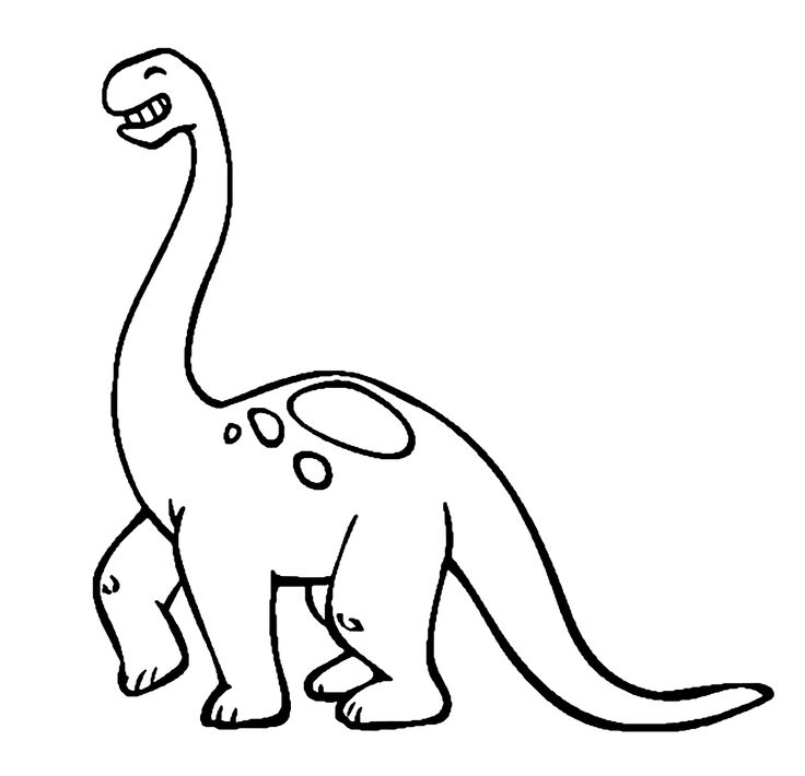 dinosaur smiling cartoon coloring pages for kids 34