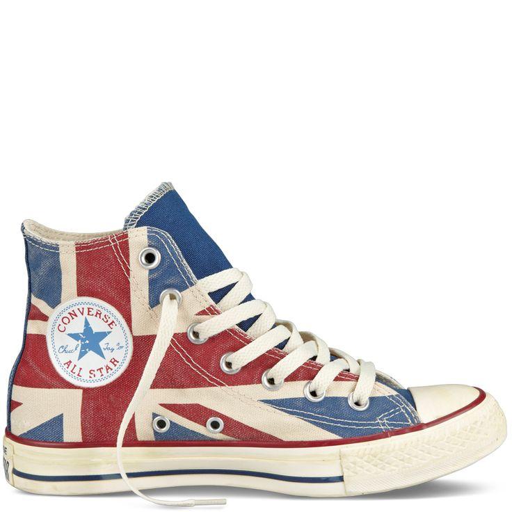 Chuck Taylor Distressed Union Jack, $80.00
