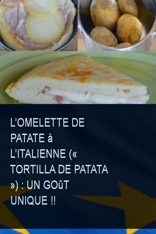 L Omelette De Patate A L Italienne Tortilla De Patata Un Gout Unique Italienne Lien Food Hamburger Bun Cheese
