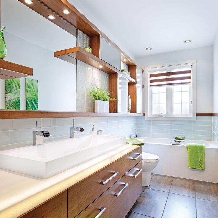 8 best salle de bain images on Pinterest Home ideas, Bath vanities - prise de courant dans salle de bain