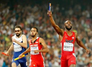 Blog Esportivo do Suíço:  EUA confirmam favoritismo levam nono título mundial masculino do 4x400m