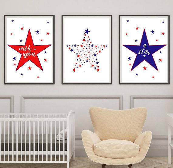 Boys Nursery Prints Star Nursery Decor Wish Upon a Star