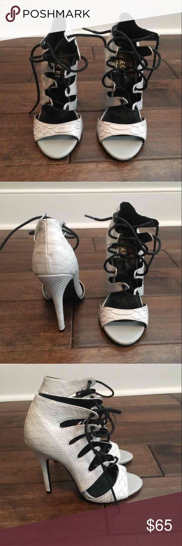 Shoe Cult tie up heels Super cute and stylish tie up heels. Nasty Gal Shoes Heels