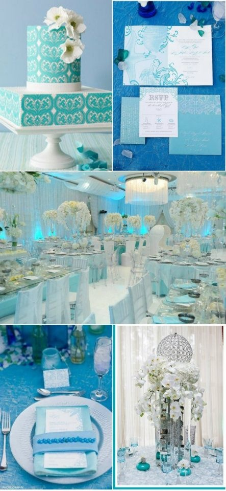 Color Palette: Tiffany Blue and White Wedding Ideas - yes, please!