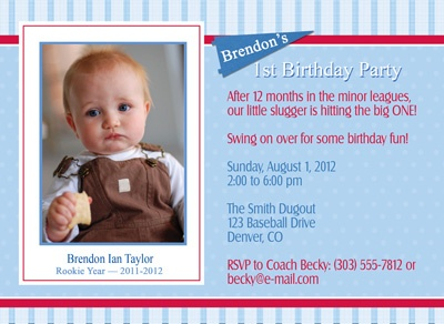 147 best First birthday ideas images – Baseball First Birthday Invitations