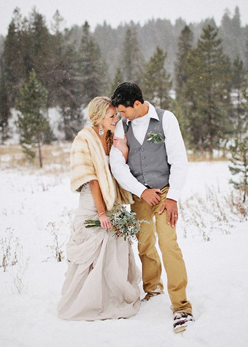 Brides: How to Have an Outdoor Winter Wedding Ceremony