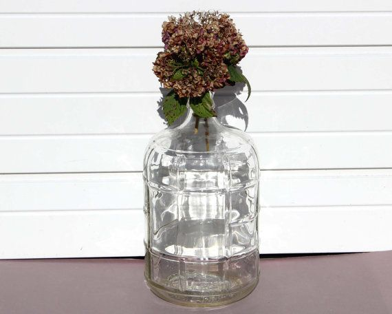 Hey, I found this really awesome Etsy listing at https://www.etsy.com/listing/254887473/vintage-carboy-water-bottle-clear-glass
